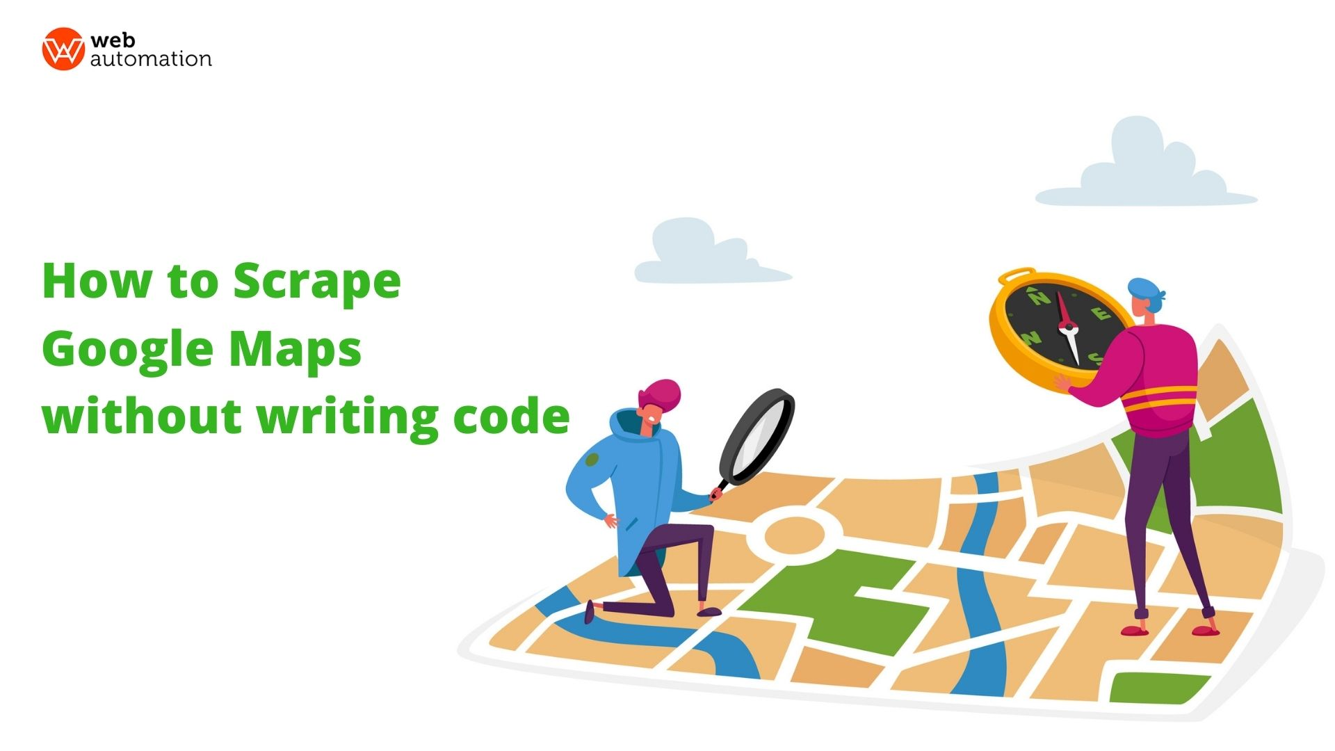 how to scrape google maps search results without writing any code